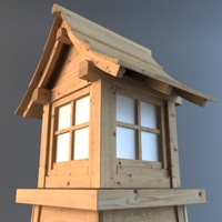 3ds max japanese wooden lantern