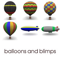 3d balloons blimps ballons model