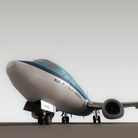 3d 737-500 plane klm model