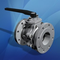 flanged ball valve 3d max