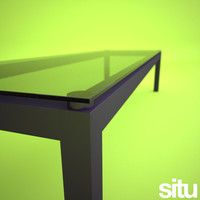 3d rectangular coffee table glass