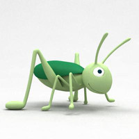 3d 3ds insect cartoon