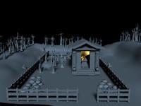 3d model graveyard tomb
