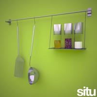3d model hanging kitchen utensils spatula