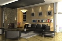 3d model living room scene