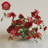bush flowers v3 3d model