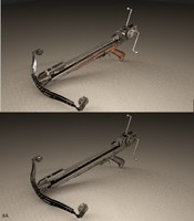 steampunk crossbow 3d model