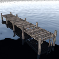 3d dock water bridge model