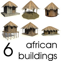 3d african buildings