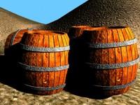 free barrels scene 3d model