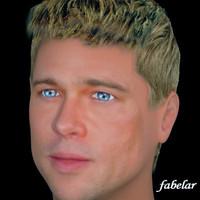 3d brad pitt hair model
