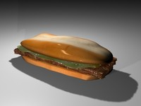 burger food bun 3d model