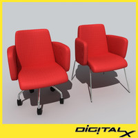 moorea swivel chair 3d model