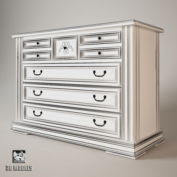 classic 3d max - Chest Of Drawers Classic... by kupfer