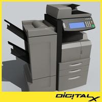 3d model of copier