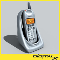 cordless phone 3d max