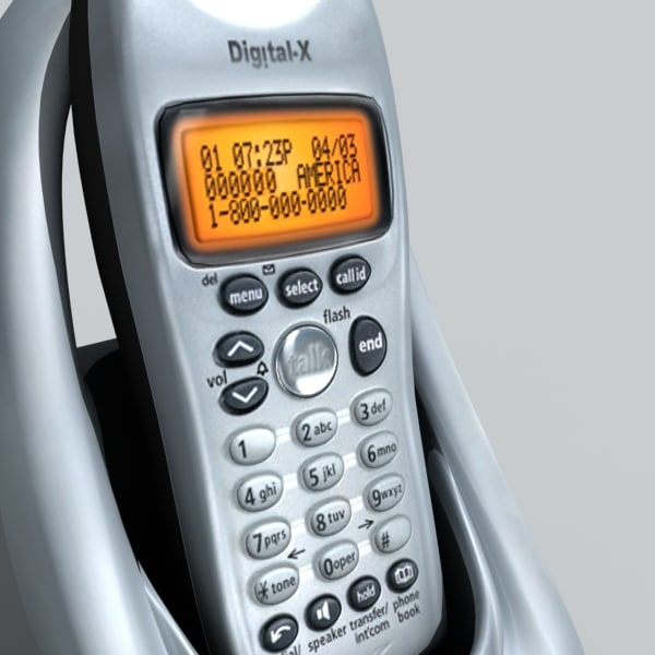 cordless phone 3d max - cordless phone... by DigitalX
