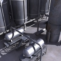 3d model oil refinery destiller