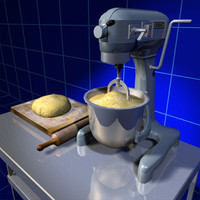 Mixer and Bread Dough 01
