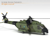 3d model of nh-90 helicopter german army