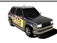 3d model of fiat panda