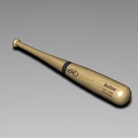 free baseball bat 3 3d model