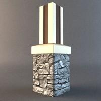architectural column 3d model