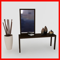 table mirror 3d model
