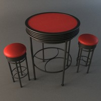 bar set - table 3d model