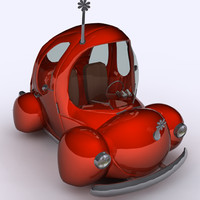 3d model toon car bug