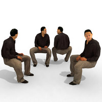 - business male person 3d model