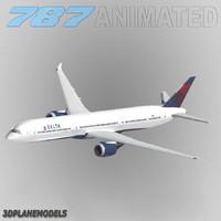 b787-10 delta air lines 3d 3ds