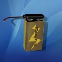battery clips 3d model