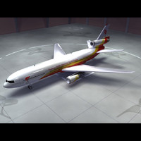 dc-10 air china 3d model