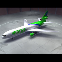 3d model dc-10 arrow cargo