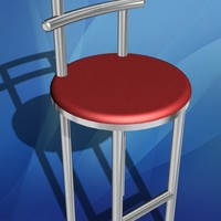 bar chair stool 3d max