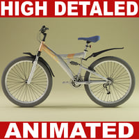 Mountain bike (Animated)