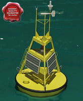 3d meteorological buoy model