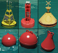 3ds max buoys modelled