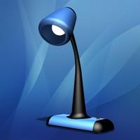 desk lamp 3d obj