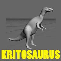 kritosaurus dinosaur lizard 3d model