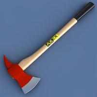 fireman axe 3d model