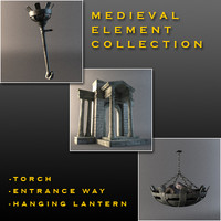 3d medieval elements light model