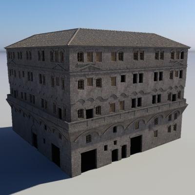 3d Roman Building Insulae