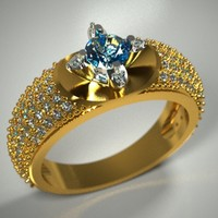 3d diamonds stone gold model