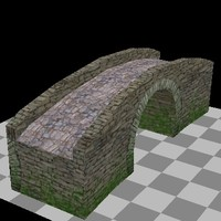 3d model bridge ancient medieval