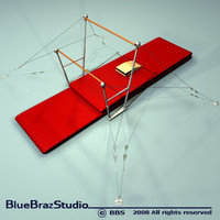 3d model uneven parallel bars
