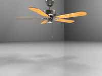 realistic ceiling fan 3d model