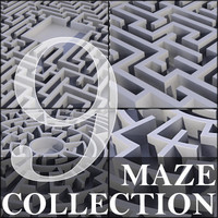 Set of 9 Mazes