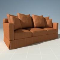 Henredon Plush Corduroy Couch